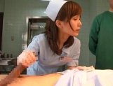 Crazy nurse Minami Kojima gives a hand job and rides cock picture 13