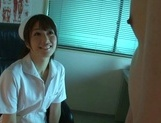Helpful Asian nurse Nanami Kawakami licks ass and sucks hard dick