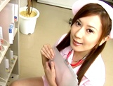 Cute nurse, Hikari Kirishma gives a titfuck and sucks dick for jizz picture 3