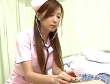 Cute nurse, Hikari Kirishma gives a titfuck and sucks dick for jizz