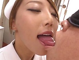 Yummy nurse gets jizz on her sweet lips