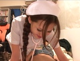Helpful nurse Ameri Ichinose gives a hand job and sucks cock picture 8