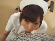 Kinky night nurse Ana Ayano sucking stiff dick