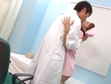 Sexy nurse in stockings gets fucked by the doc