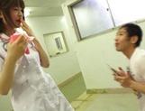 Delicious nurse Koyuru Kanon bonked in a threesome