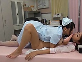 Kinky lesbian nurse fucking a sexy patient picture 7
