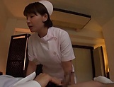 Ravishing amateur nurse gives perfect blowjob picture 1