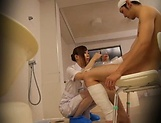 Naughty nurse bonking well with a patient