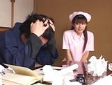 Hot nurse is a Japanese AV model who loves to fuck in hardcore scenes