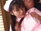 Hot nurse is a Japanese AV model who loves to fuck in hardcore scenes picture 5