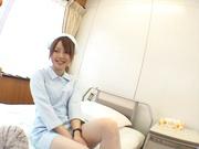 Sexy nurse Ria Sakurai blows cock and enjoys doggy-style fuck
