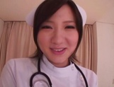 Busty Japanese AV Model is a nurse who loves to fuck in hardcore picture 10