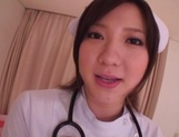 Busty Japanese AV Model is a nurse who loves to fuck in hardcore picture 11