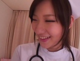 Busty Japanese AV Model is a nurse who loves to fuck in hardcore picture 3