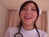 Busty Japanese AV Model is a nurse who loves to fuck in hardcore picture 4