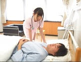 Attractive nurse Nana Ayano fucks horny patient picture 5