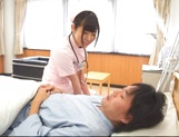 Attractive nurse Nana Ayano fucks horny patient picture 6