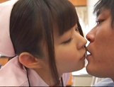 Attractive nurse Nana Ayano fucks horny patient picture 9