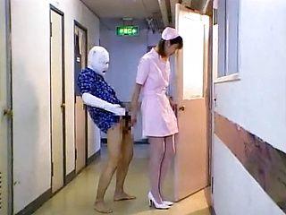 Japanese AV model plays nurse for sick guy in the hospital
