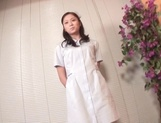 Beautiful Asian nurse throats a big dick in POV picture 3
