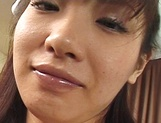 Delicious Asian nurse Akane Oozora strips and gets rear fuck picture 13