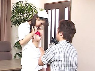 Akane Oozora, naughty Asian nurse gets fucked at work