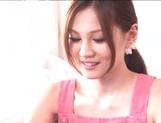 Petite Japanese nurse Ameri Ichinose enjoys oral stimulation picture 11