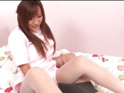 Japanese AV Model, a nurse in sexy stockings endures harsh sex
