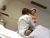 Glamorous Asian nurse moans as she is nailed