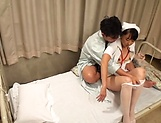 Kinky Asian nurse loves sucking hot wood picture 9