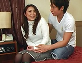 Enticing Japanese AV model is banged doggy style