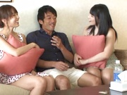 Threesome action along Uehara Ai and Hatano Yui