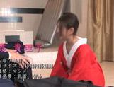 Sexy mature Japanese hottie in kimono arranges tough riding picture 1