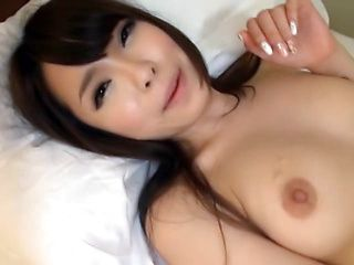 Japanese Asian model gets dildo fucked and fingered