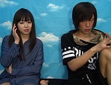 Japanese teen delights with cock in full mode picture 13