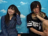 Japanese teen delights with cock in full mode
