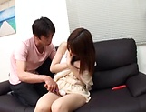 Creampie to end Japanese AV model's naughty threesome show picture 13