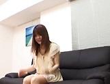 Creampie to end Japanese AV model's naughty threesome show