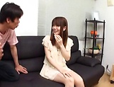 Creampie to end Japanese AV model's naughty threesome show picture 6