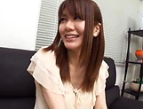 Creampie to end Japanese AV model's naughty threesome show picture 7