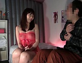 Gorgeous wife, Kyoko Maki, in sexy lingerie enjoys sex with the neighbor