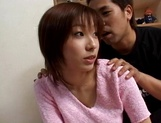 Busty Japanese milf gets deep fingering and enjoys doggy-style pounding