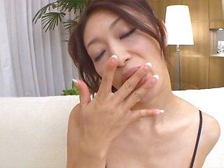 Reiko Kobayakawa horny Japanese babe enjoys masturbating