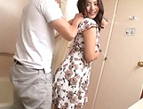 Hot Japanese babe bathroom fucked and spunked  picture 7