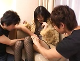 Married woman goes nasty on two young males picture 13