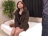 Sexy Japanese AV model gets seduced in fucking on cam