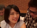 Young Japanese hard fucked by two horny stallions picture 12
