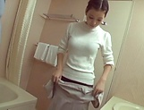 Hot milf bathroom fucked and jizzed over the face