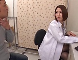 Sexy Japanese nurse gets screwed so good picture 3