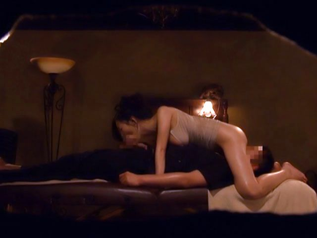 Hot Japanese babe gets more than just a massage